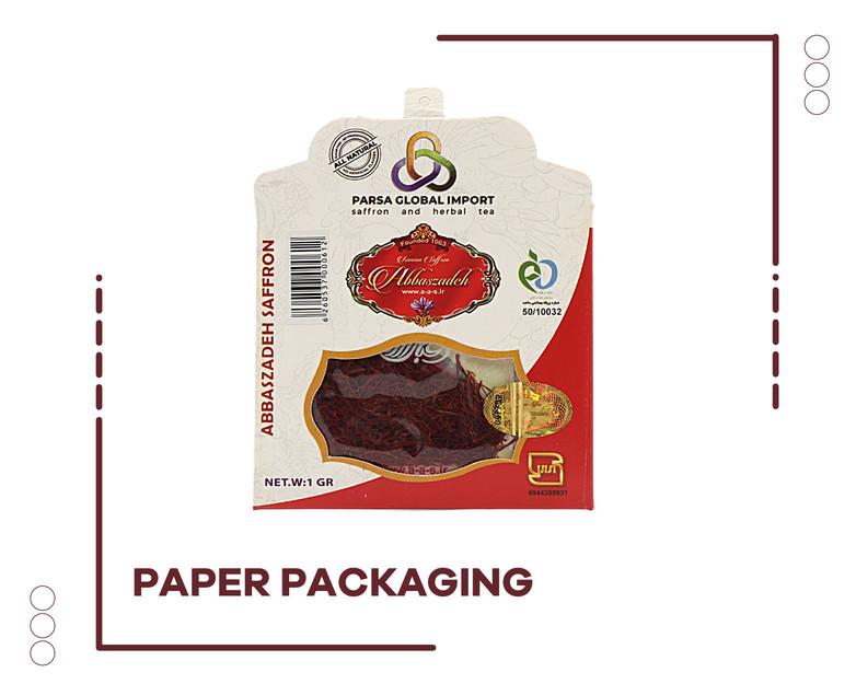 Saffron Paper Package